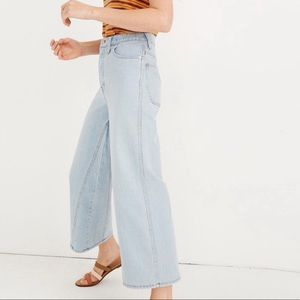 Madewell Wide-Leg Crop Jeans in Fitzgerald Wash 27